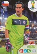 N°068 CLAUDIO BRAVO # CHILE PANINI CARD ADRENALYN WORLD CUP BRAZIL 2014