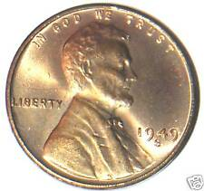 1949 S LINCOLN WHEAT CENT CH RED UNCIRCULATED