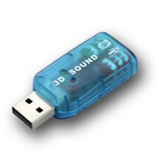 USB Sound Card 3D Virtual 5.1 Headphone / Mic Output Just Plug n Play(N-1023)