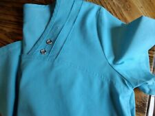Luxe Women'S Xs Turquoise Scrub Top #Ca24480 Two Button Front