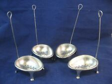 Boiling Egg Lifter Set Of 4, Rare Vintage Metal Tin, Kitchen Collectible