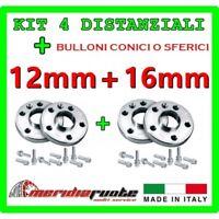KIT 4 DISTANZIALI PER ALFA ROMEO 147 (937) 2000-2010 PROMEX ITALY 12mm + 16mm S