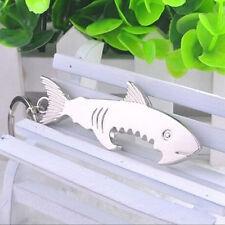 11.8*3*0.7cm Shark Shape Bottle Opener Key Chain Fish Pattern Key Rings Hanging
