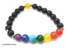 7 Chakra Christal Stones Bracelet. Healing Beads Jewellery Natural Reiki gift A+