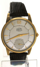 Rare Vintage 1950s Enicar Ultrasonic Chronometer 14K Gold Top 35mm Slim Watch