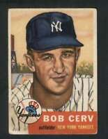 1953 Topps #210 Bob Cerv VGEX RC Rookie Yankees 80141
