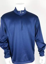 Nike Golf Mens Pullover Size Extra Large Therma-Fit Golf Blue Zipper Neck Xl