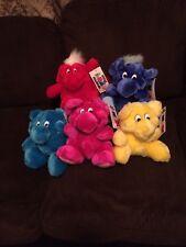 5 Kodak KOLORKINS Plush Toys Kosmic Klakki Kwikki 1989 VINTAGE Mint Condition