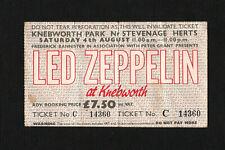 More details for led zeppelin. original knebworth first show ticket, 1979. intact! led zep. stub.