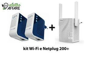 POWERLINE NETPLUG 200+ CON WIFI RANGE EXTENDER TENDA A301