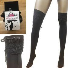 Overknee Strümpfe Strümpfen Socken Spitze Damen mit OVP 95055