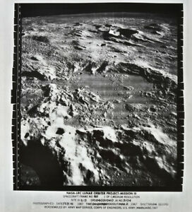 1967 Lunar Orbiter MOON giant original NASA photo Mare Vaporum hunt apollo sites