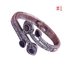 Women Vintage Bangle Red Water Drop Resin Resin Bracelet Crystal Turkish Jewelry