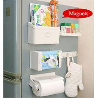 5Pcs/set Magnetic Fridge Side Shelf Rack Storage Organizer Holder Tissue Box