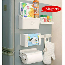 5Pcs/set Magnetic Fridge Side Shelf Rack Storage Organizer Holder Tissue Box
