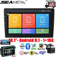 """10"""" Android 9.1 Double 2DIN Car Stereo Radio GPS Navigation USB Player APP WIFI"""