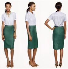 Women's J. Crew Dark Green Wool No. 2 Pencil Skirt Size 8