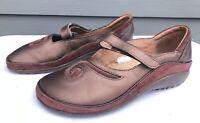 Naot Matai Metallic Copper/Maroon Women's Mary Jane Sandals Size US 7 / EU 38