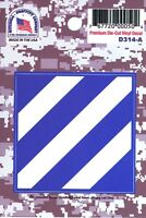 US ARMY 3RD INFANTRY DIVISION PREMIUM DIE-CUT VINYL STICKER - MADE IN THE USA!!