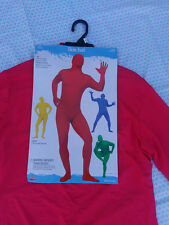 Fun World Skin Suit Red Adult One size fits most up to 6ft 200lbs New