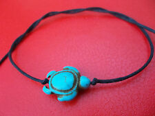 Black string tie on bracelet turquoise howlite turtle  karmastring Xmas Stocking