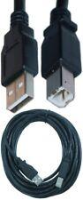 12ft USB2.0 A~B AB Printer Cable/Cord/Wire PC/MAC/Canon/Epson/Dell$SH DISC{BLACK