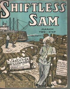 Shiftless Sam 1904 Large Format Sheet Music