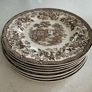 """8 Vintage ROYAL STAFFORDSHIRE Clarice Cliff TONQUIN Dinnerware: DINNER PLATE 10"""""""