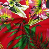 """Dressmaking Fabric 44"""" Wide Cotton Material Red Crafting Sewing By The Metre"""