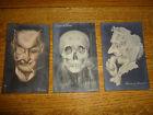 3 Antique Metamorphic Real Photo Postcard - Nude Women - Devil - Skull - RPPC