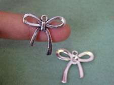 10 bow pendant charm beads tibetan silver antique  wholesale craft UK DL104