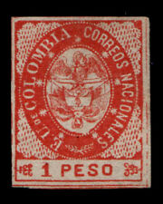 Vintage:Colombia 1864 Unu,Bh Scott # 42 $ 125 Lot # Col1864B5