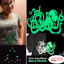 Siser EasyWeed Iron On Heat Transfer Vinyl - Glow in the Dark *FREE SHIPPING*
