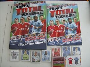 TOPPS TOTAL FOOTBALL 2009-480 LOOSE SET STICKERS-EMPTY ALBUM & HARDBACK BINDER.