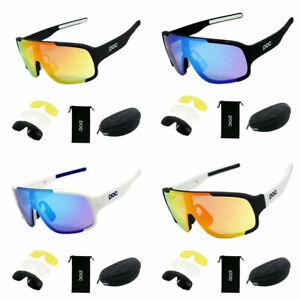 POC Sonnenbrille Unisex Radbrillen Sonnenbrille UV400 Polarisiert mit 4x Len DE