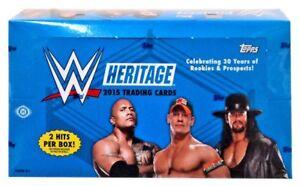 WWE Wrestling 2015 WWE Heritage Trading Card HOBBY Box [24 Packs]