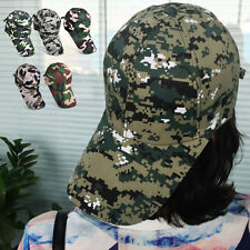 Men Women Camo Baseball Cap Hunting Fishing Military Amy Camouflage Hat Adjust