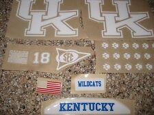 Kentucky Wildcats  20 mil 3M vinyl full size football helmet decals