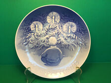 "B&G Bing & Grondahl 1980 Danish Jubilee LARGE Plate 9"" HAPPINESS OVER YULE TREE"