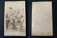 Portrait de famille Vintage albumen print CDV. Tirage albuminé  6,5x