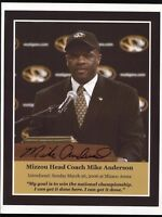 Mike Anderson Signed 8x10 Photo College NCAA Basketball Coach Autograph Arkansas