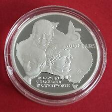 Australia 1993 Lawson Blaxland Wentworth 5 DOLLARI ARGENTO PROOF-CAPOLAVORI IN ARGENTO