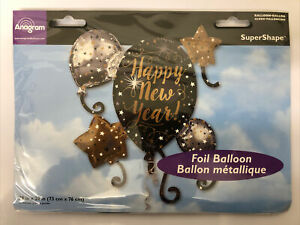 Happy New Year Foil Helium Balloon - Brand New