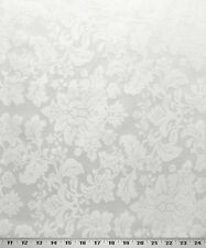 "Drapery Upholstery Fabric Tone on Tone Floral Damask 114"" W - Snow"