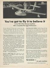 1958 Skimmer Iv Amphibian Airplane Ad