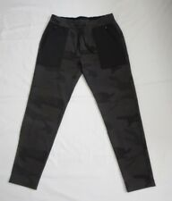 NWT Abercrombie & Fitch Mens Active Tapered Black Camo Sweatpants Size Small