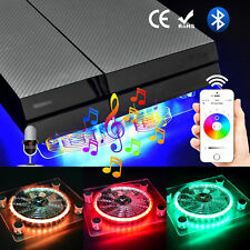 USB RGB LED Cooler Cooling Fan With Bluetooth Controller For PS4 Playstation