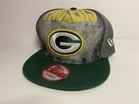 Green Bay Packers Snapback Hat Cap One Size 9Fifty New Era - Gray, Green, Yellow