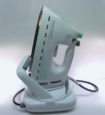 Vintage Morphy Richards Turbosteam iron 1996 w/ retractable cord base #42997
