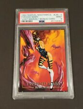 1992 SkyBox Marvel Masterpieces Lost Typhoid Mary #LM-4 PSA MINT 9! LOW POP!